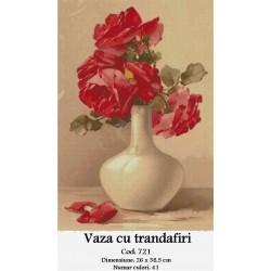 Vaza cu Trandafiri (kit goblen)