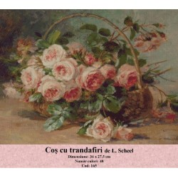 Cos cu trandafiri de L. Scheel